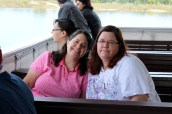 Carol and Aunty Donna on the boat ride (I love this photo)