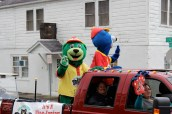Diamond and Slugger---the AA Tennessee Smokies baseball mascots