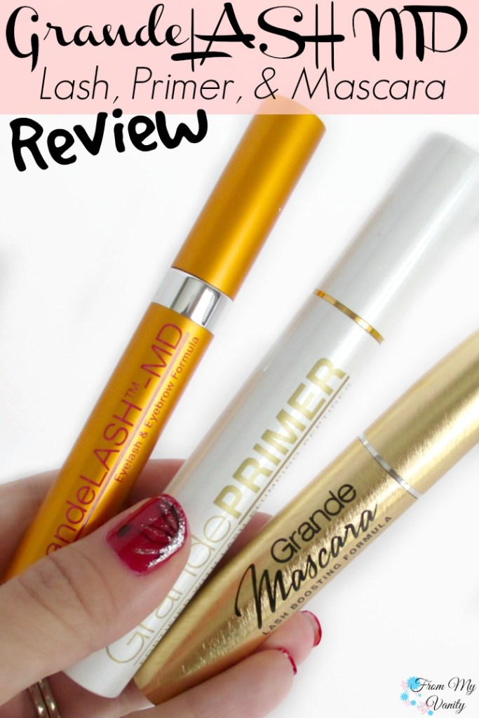 Grande Lash MD's GrandeLASH, GradePRIMER, and GrandeMASCARA Review // Pin and Read Later! // #GrandeLashMD #LongLashes // FromMyVanity.com