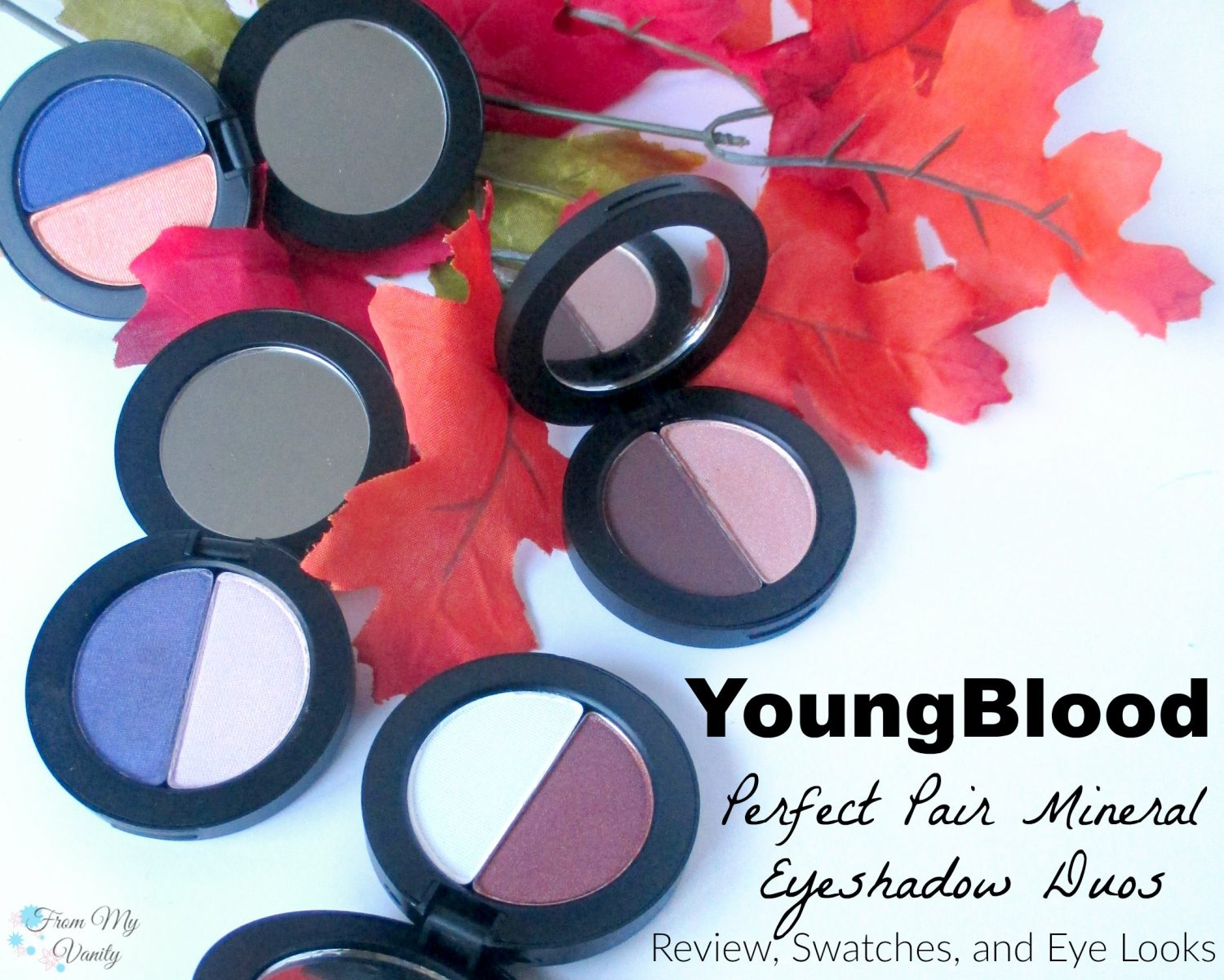 YoungBlood Perfect Pair // Mineral Eyeshadow Duos // Review, Swatches, & Eye Looks // @LadyKaty92 FromMyVanity.com