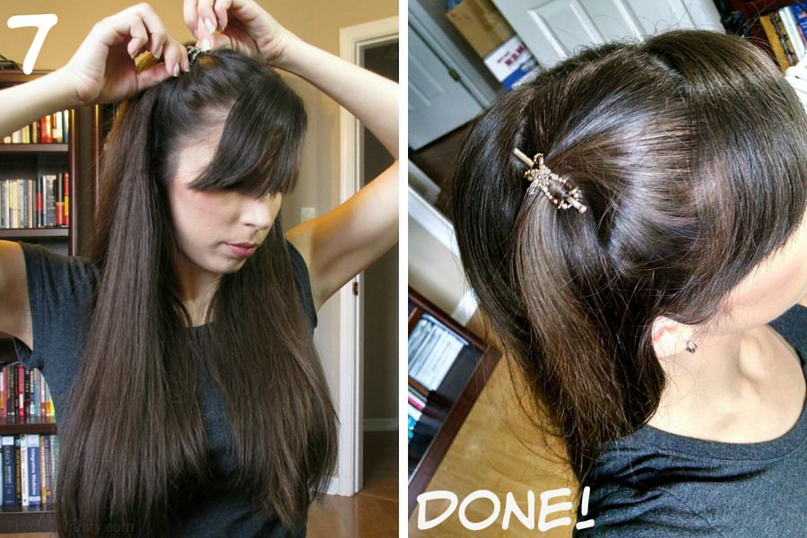 Quick Hairstyles for Busy Moms // Goody Brushes // Updo Finished Results // FromMyVanity.com #goody #hairstyles