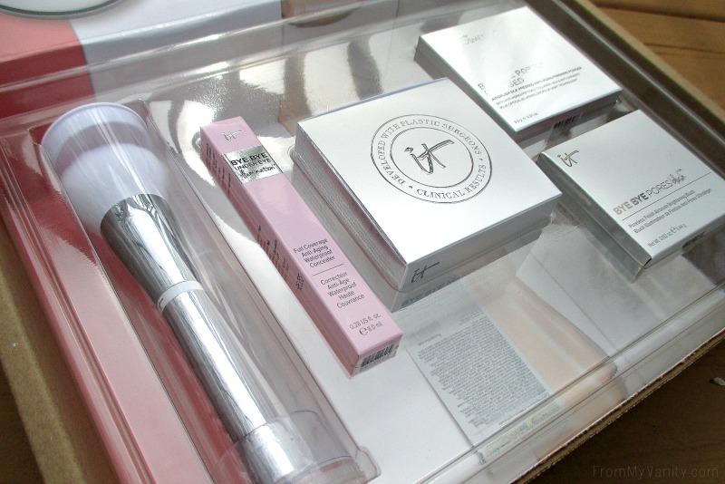 Everything is packaged so securely -- way to go IT Cosmetics! This is their newest QVC TSV, IT'S Your Bye Bye Collection!