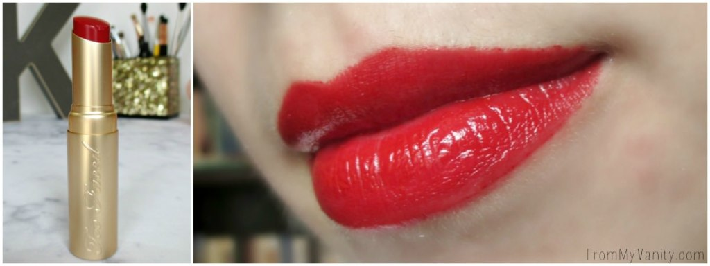 What a perfect, classic red lip! // Too Faced La Creme Color Drenched Lipstick in 90210hhh // New Shades!
