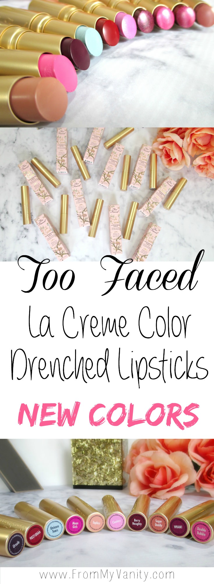 I always love the packaging with the gold tubes -- they have a way of standing out! And with so many unique and fun colors....I want to try them all!