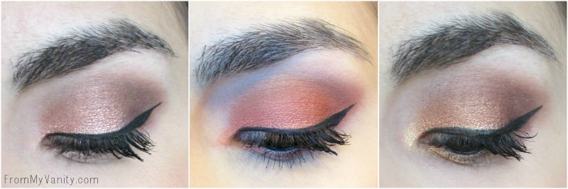 Eye looks using the NYX Warm Neutrals Ultimate palette