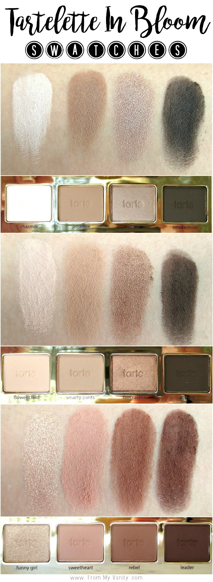 Tarte Tartelette In Bloom Swatches!