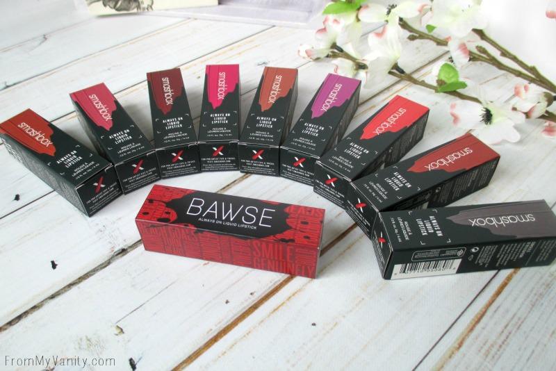 Always On liquid lipsticks from Smashbox