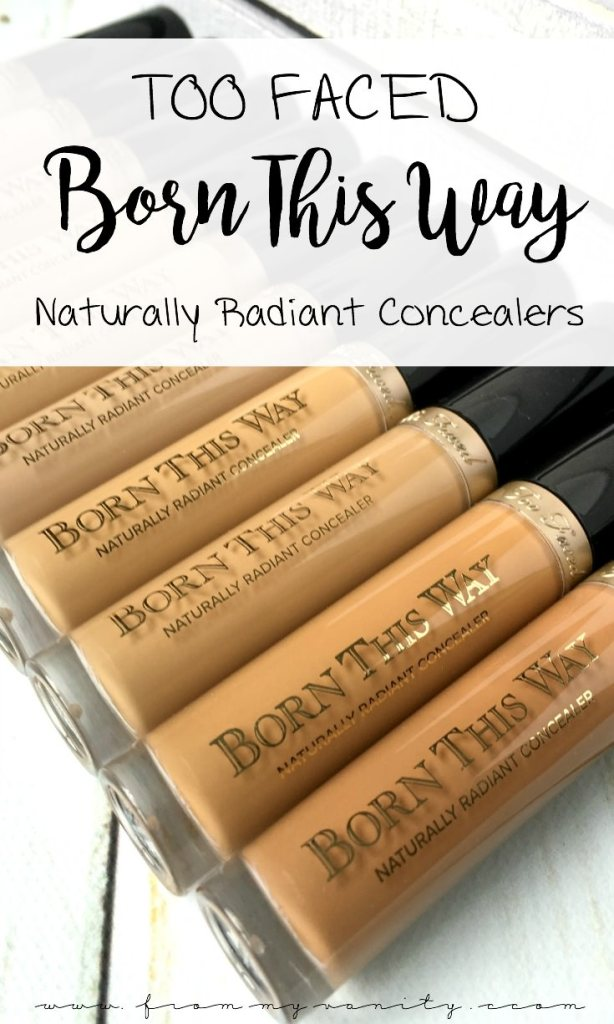 These Born This Way concealers look amazing and pair perfectly with the original foundation. Way ta go, Too Faced!