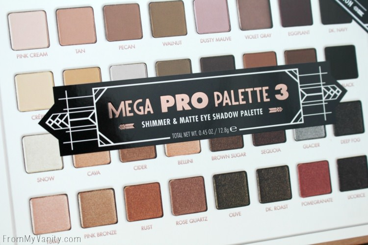 Rose and Revelry is the theme of LORAC's Mega Pro 3 palette