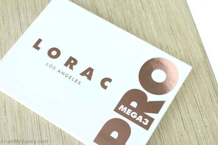 The GORGEOUS packaging for the LORAC Mega PRO 3 palette
