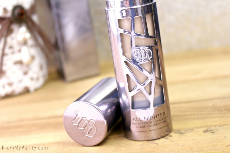 Urban Decay All Nighter foundation gets a prize for the coolest packaging!