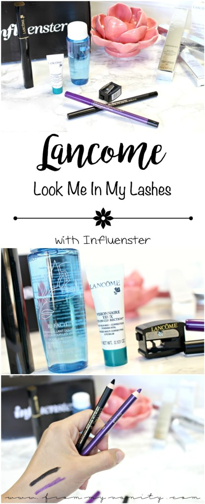 New Eye Products from Lancome! Influenster sends out these products recently and here's a review! #LookMeInMyLashes