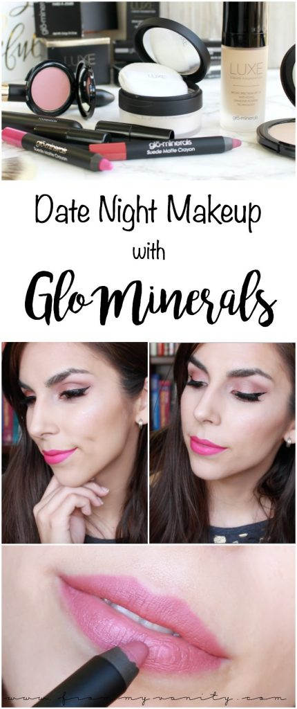 Date Night Makeup with Glo Minerals | Valentine's Day Makeup Inspiration | Quick & Easy Makeup | New Products from Glo Minerals