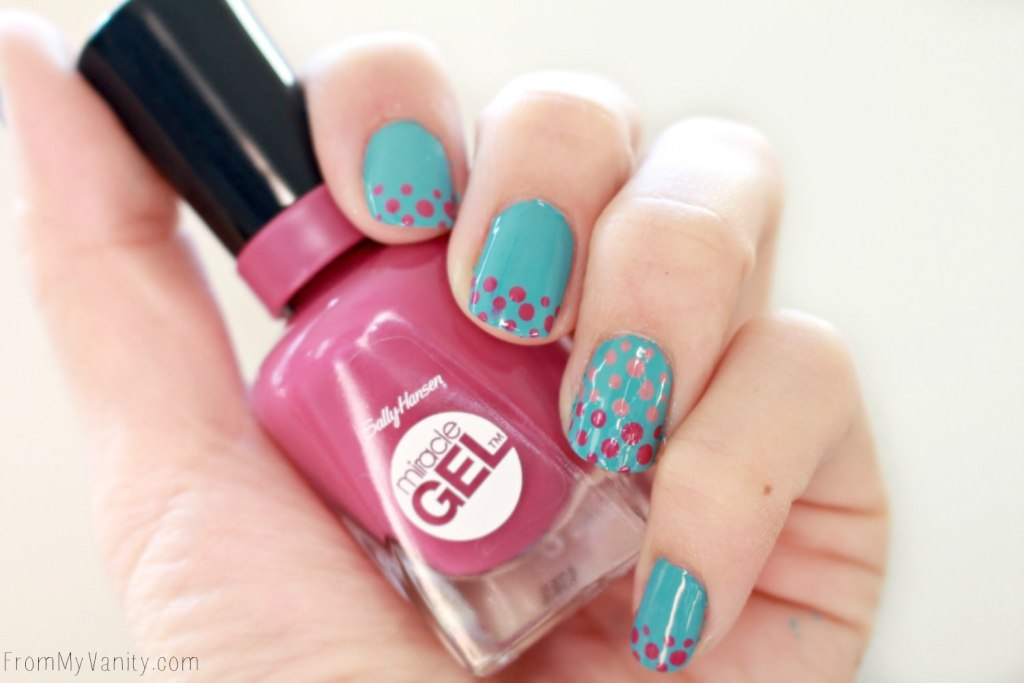 Easy Dotticure Nail Art   Tutorial   Sally Hansen Miracle Gel   Manicure