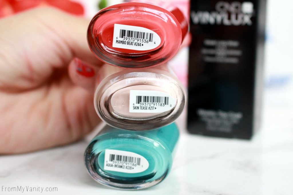 Easy Summer Nail Art with CND VINYLUX | Tutorial | Nail Polish Names