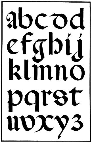 142.—italian Round Gothic Small Letters. 16th Century.