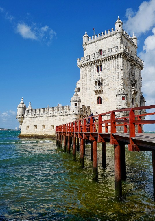 La Tour de Belém construite sur les bords du Tage
