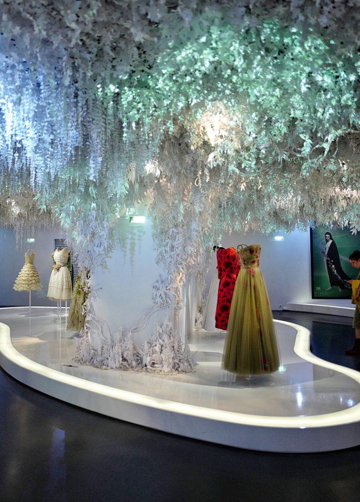 Work of artist Wanda, hanging garden, Dior exhibition