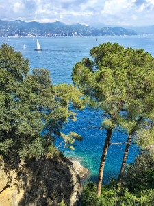 View from the point of Portofino Italy