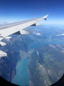 Les lacs vue du ciel Milan