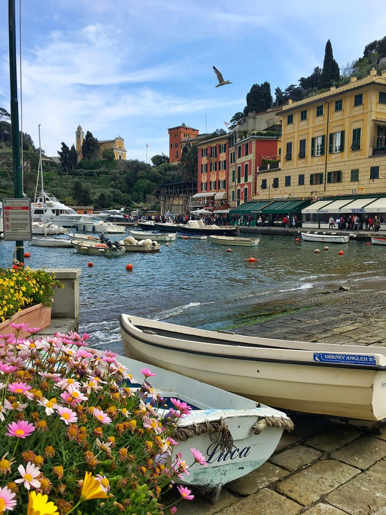 Boats in Portofino port Italy