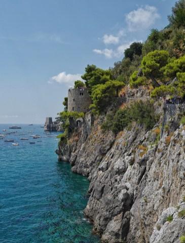 Tour de guet Trasita Positano Italie