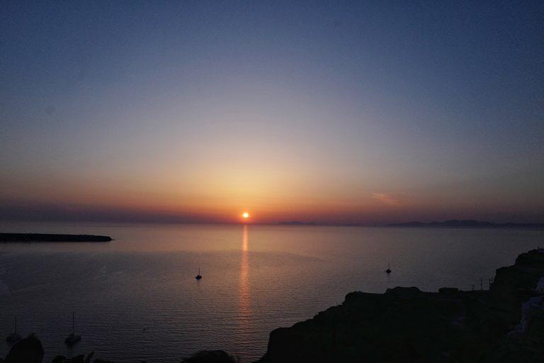 Coucher de soleil à Oia, Thira Grèce