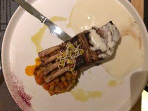 Dish at Petrosia restaurant, Oia, Greece