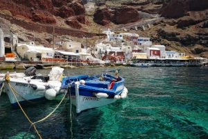 Ammoudi harbour, Oia, Greece
