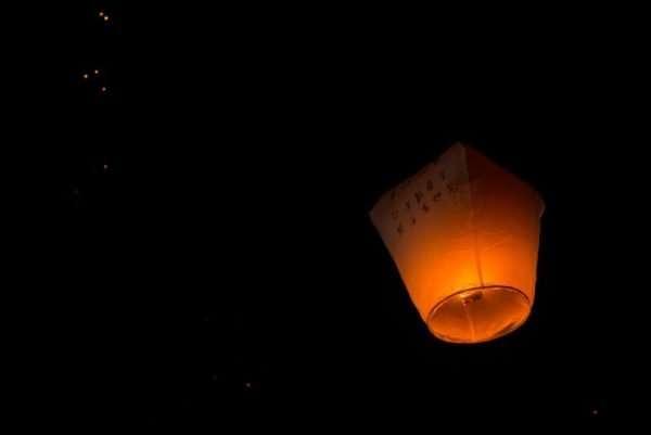 Solo lantern at the Pingxi lantern festival