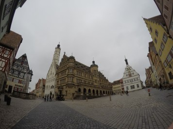 Wind whistling around the main square