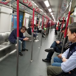 Riding the MTR in Hong Kong