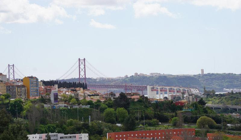 Ponte 25 de Abril zu Fuß