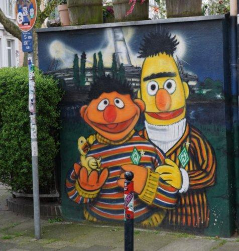 Ernie und Bert Street art Bremen