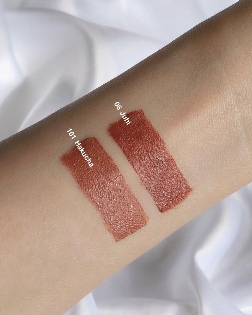 SUQQU Sheer Matte Lipstick Swatches