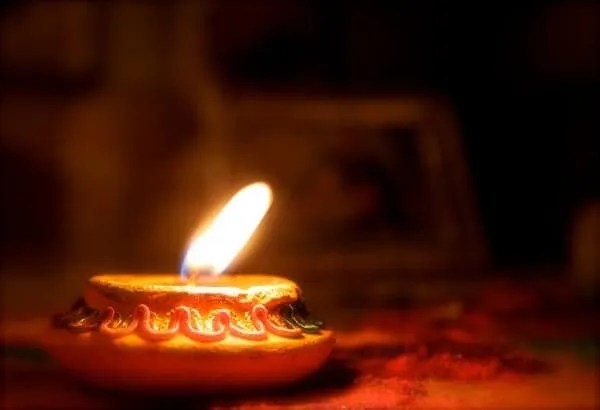 Lighting of diya