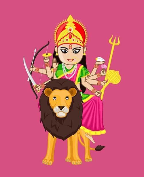 Illustration of Goddess Jagdamba