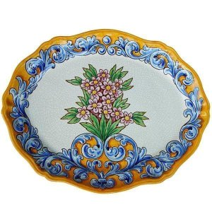 Oval Scalloped Serving Plate