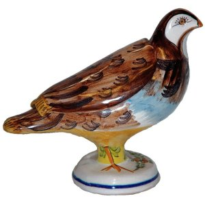 Ceramic One-of-a-Kind Quail Box
