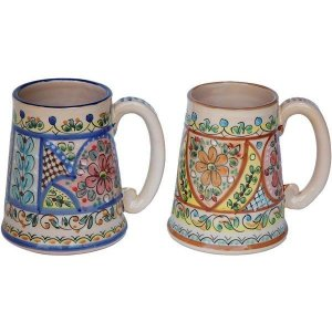 Hand Painted Ceramic Beer Stein