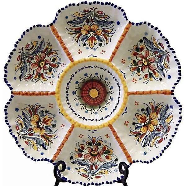 Spain ceramic antipasto tapas plate