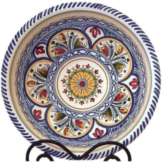 Hand Painted Ceramic Serving Bowl from Spain