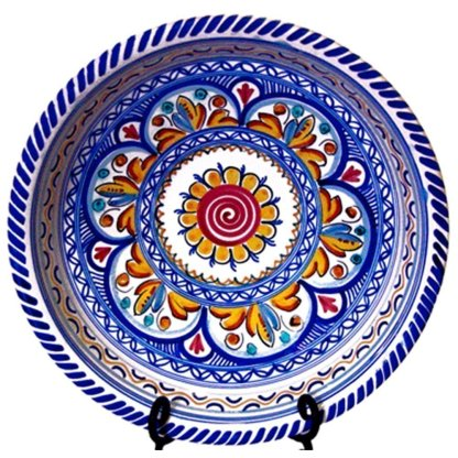 Ceramic Serving Bowl Especial.  Multicolor