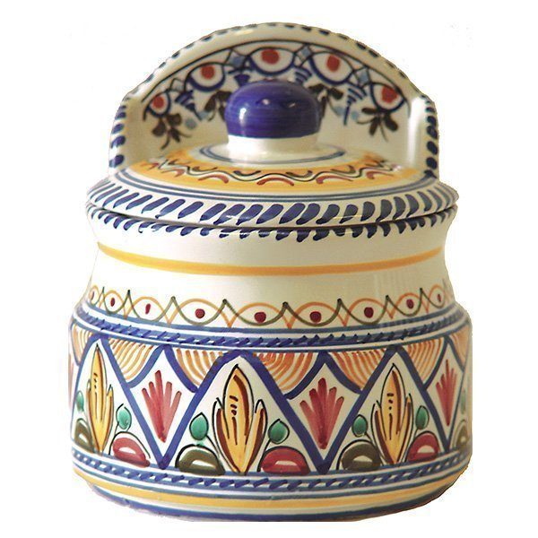 Ceramic Salt Canister from Spain