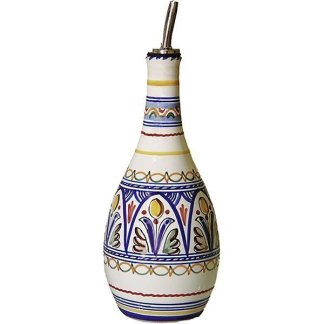 Hand Painted Spanish Ceramic Oil Dispenser