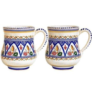 Hand Painted Spanish Ceramic Mugs