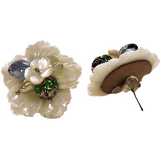 Mother of Pearl Flower Earring