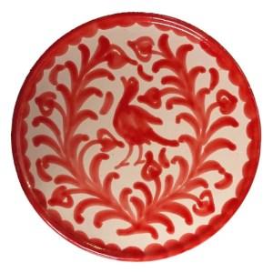 Granada Red Ceramic Plate