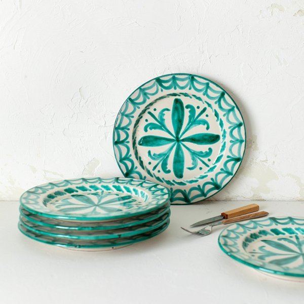 Green Granada Plates
