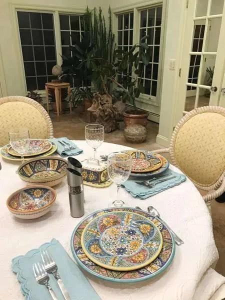 Mosaic Pattern Dinner Plate